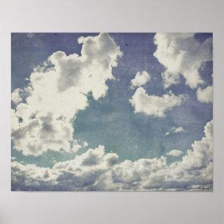 Una rebanada de ilustraciones del cielo póster