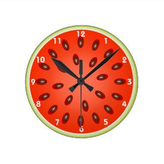 Una rebanada de sandía de restauración relojes