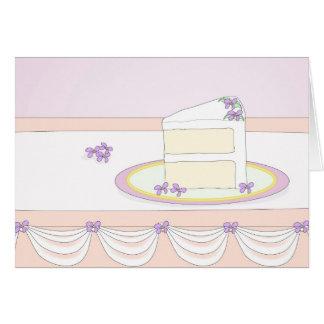 Una rebanada elegante de pastel de bodas felicitacion
