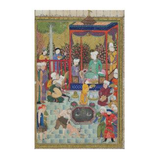 Una recepción principesca lienzo envuelto para galerias