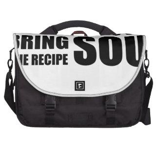 Una receta no tiene ninguna alma. Traigo alma a la Bolsas Para Portátil