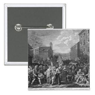 Una representación del marzo de los guardias pin cuadrado
