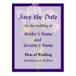 Una reserva púrpura del iris la fecha postal