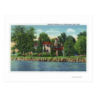 Una residencia hermosa del lago Chautauqua Postal