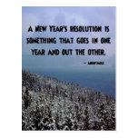 Una resolución del Año Nuevo… Postal