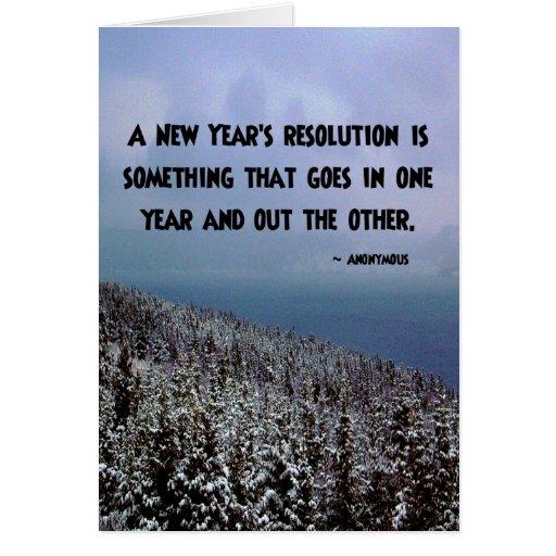 Una resolución del Año Nuevo… Tarjeta de felicitac