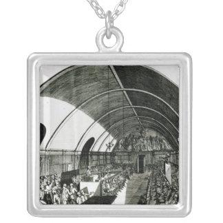 Una reunión del club de Jacobin, 1791 Colgante Cuadrado