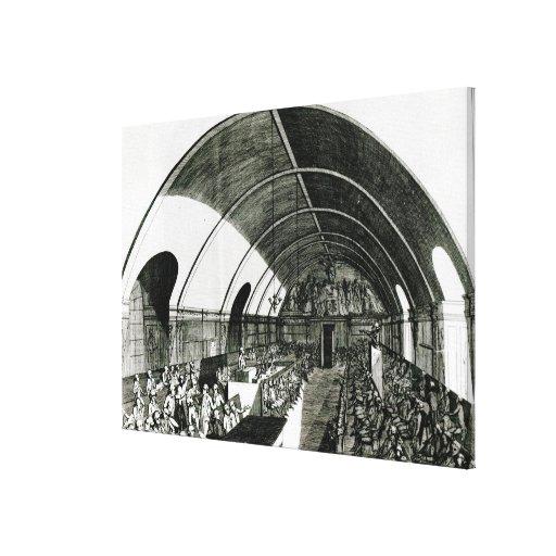 Una reunión del club de Jacobin, 1791 Impresion En Lona
