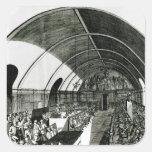 Una reunión del club de Jacobin, 1791 Calcomanías Cuadradas Personalizadas