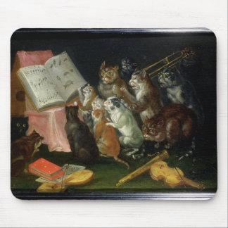 Una reunión musical de gatos alfombrilla de ratones