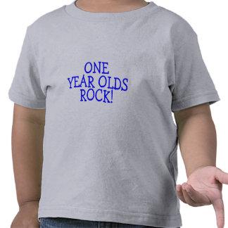 Una roca de los años (azul) camiseta