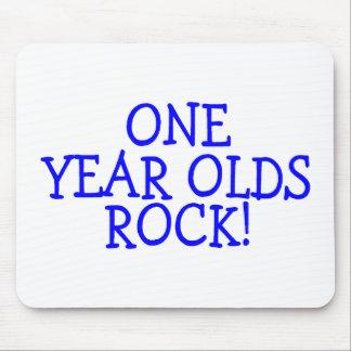 Una roca de los años azul tapetes de raton