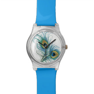 Una rociada del reloj del arte del pavo real