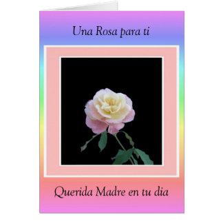 Una Rosa para ti, Querida Madre en tu dia Card
