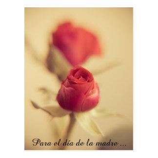 Una rosa Roja para la madre… Postales
