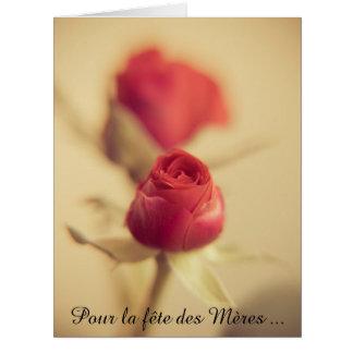 Una rosa Roja para la madre… Tarjeta De Felicitación Grande