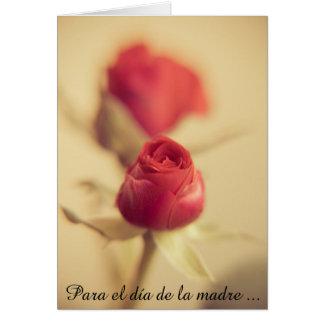 Una rosa Roja para la madre… Tarjeta Pequeña