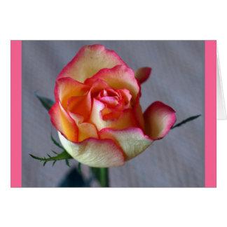 """""""Una Rosa """" Tarjeta De Felicitación"""