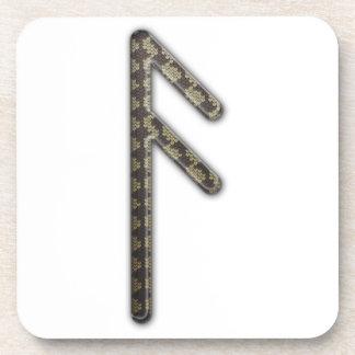 Una runa más vieja Asa de Futhark Posavasos De Bebida