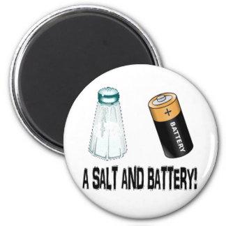¡Una sal y una batería! Imán Para Frigorífico