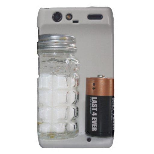 Una sal y una batería motorola droid RAZR carcasas