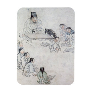 Una sala de clase confuciana (Sodang) (impresión d Iman Rectangular