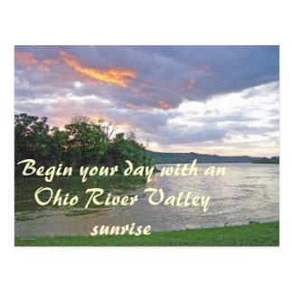 Una salida del sol del valle del río Ohio Postal