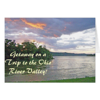 Una salida del sol del valle del río Ohio Tarjeta De Felicitación