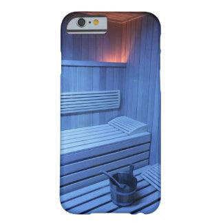 Una sauna en la luz azul, Suecia Funda De iPhone 6 Barely There