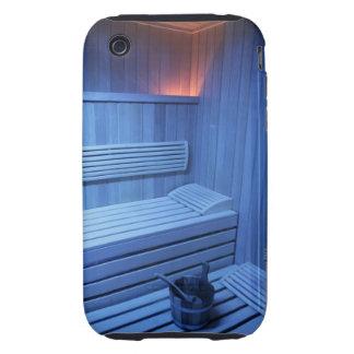 Una sauna en la luz azul, Suecia iPhone 3 Tough Cárcasas