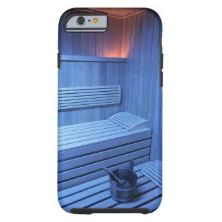 Una sauna en la luz azul, Suecia Funda Para iPhone 6 Tough