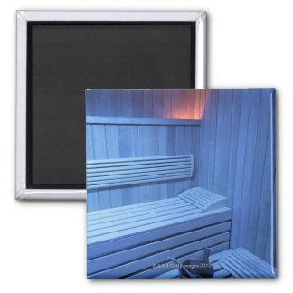 Una sauna en la luz azul, Suecia Iman