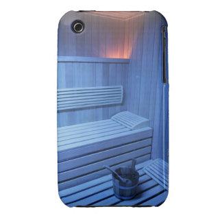 Una sauna en la luz azul, Suecia iPhone 3 Case-Mate Cárcasa