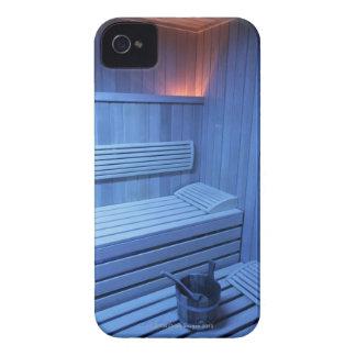 Una sauna en la luz azul, Suecia iPhone 4 Carcasa