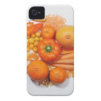 Una selección de frutas y de verduras anaranjadas iPhone 4 protectores