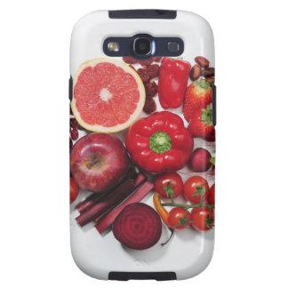 Una selección de frutas y de verduras rojas galaxy s3 protector