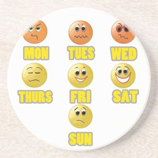 Una semana de emociones: Trabajo y escuela Posavasos Cerveza