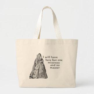 Una señora aquí bolsas lienzo