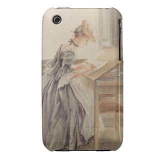 Una señora Copying en una tabla de dibujo, iPhone 3 Protector