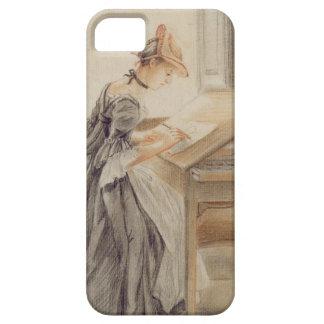 Una señora Copying en una tabla de dibujo, iPhone 5 Fundas