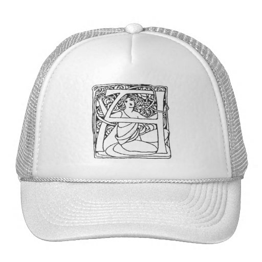 Una señora de la letra gorras de camionero