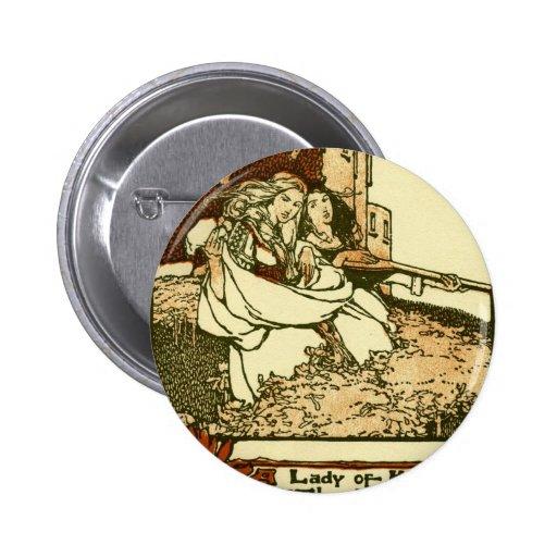 Una señora del peck de Court 1907 de rey Arturo Pin Redondo 5 Cm