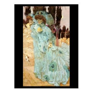 una señora del Victorian como postal de la muerte