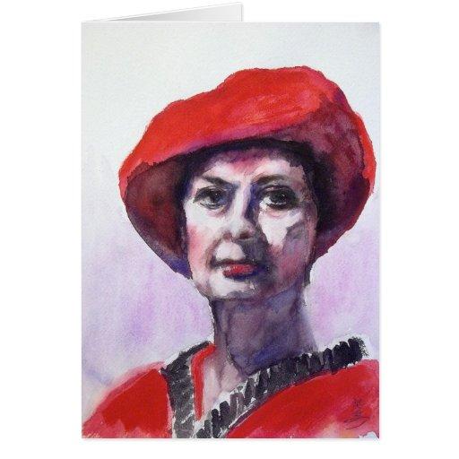 Una señora en rojo
