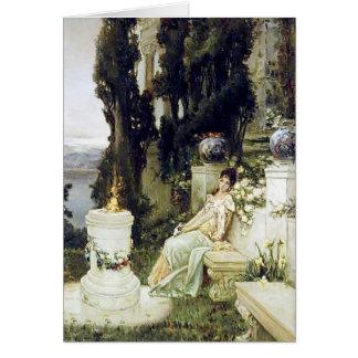 Una señora en un banco de mármol - Wilhelm Tarjeta De Felicitación