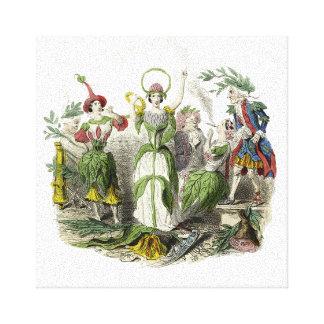 Una señora Of The Flowers Impresión De Lienzo