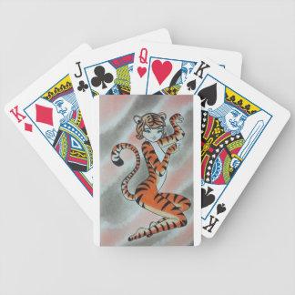 Una señora salvaje Tiger Original Baraja Cartas De Poker