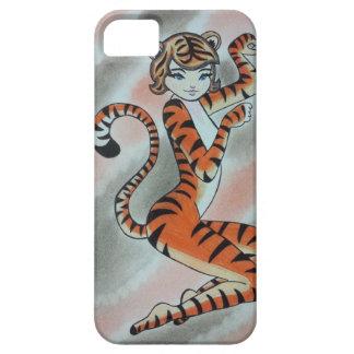 Una señora salvaje Tiger Original iPhone 5 Carcasa