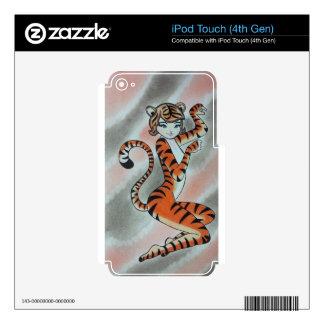 Una señora salvaje Tiger Original iPod Touch 4G Skin