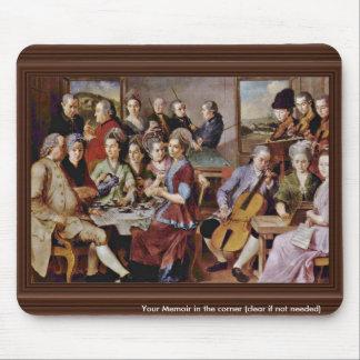 Una señora Seated At A Virginal, por Vermeer Van D Tapete De Ratones